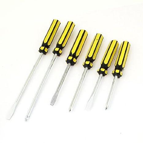 eDealMax 6 piezas magnéticas punta de plástico amarillo ...