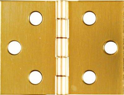(Stanley Solid Brass Miniature Desk Hinge, 1-1/2