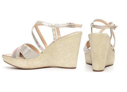 Nero Giardini - Sandalias de vestir de Piel para mujer dorado