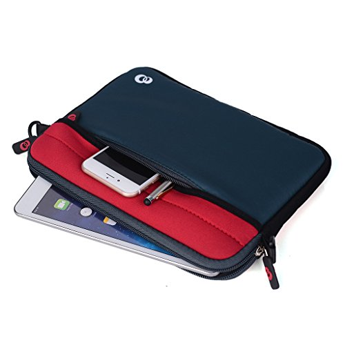 Kroo Tablet/Laptop Hülle Sleeve Case mit Schultergurt für Samsung Galaxy Tab A 7.0(2016) rosa rose rot
