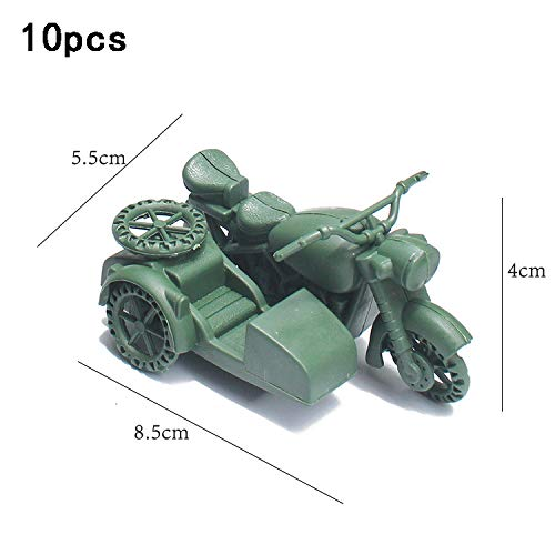 Bingirl 10pcs Military Model DIY Model Toys Sand Table Miniatures Accessories Puzzle Learning Toy Educational Toys for Children, Kids, Teenagers, Youths Three-Wheeled ()