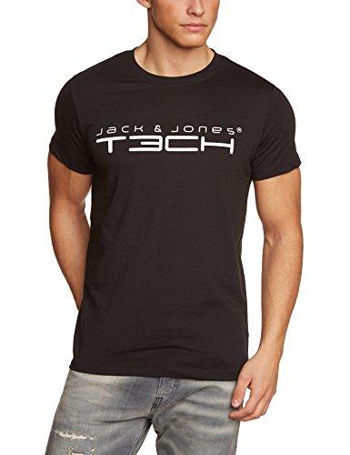 Jack & Jones Tech Herren T-shirt JJT Foam New Tee Short Sleeves Crew Neck Noos, Schwarz(Black), S, 12091568