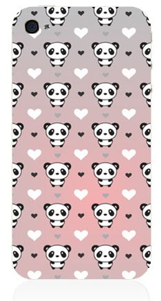 COQUE PROTECTION TELEPHONE IPHONE 4 ET 4S - PANDA LOVE