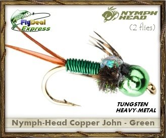 NYMPH-HEAD COPPER GREEN - Nymph (2-pack)