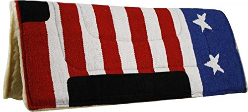 Showman American Flag pad with Suede wear Leathers with Fleece Back. 30