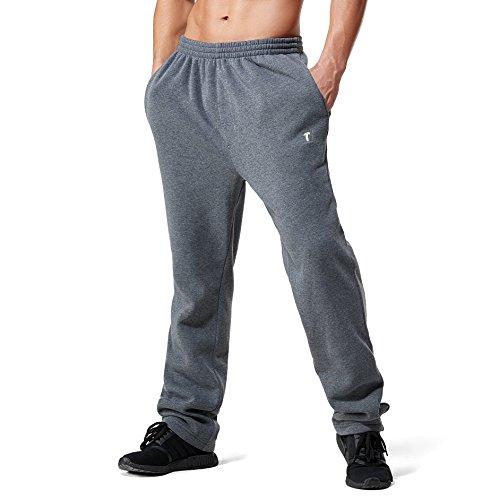 Inner Fleece Pockets (Greatrees Men's Big & Tall Jogger Fleece Pants With Pockets Dark Grey 6XL)