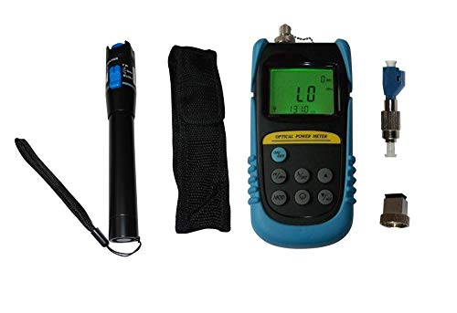 Optical Power Meter +26 to -50dBm W/ 20mW Visual Fault Locator Fiber Optic Cable Tester/FC Male-LC Female Adapter
