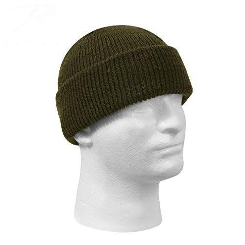 BlackC Sport Olive Drab Genuine GI Knitted Winter Hat Wool Watch Cap USA Made
