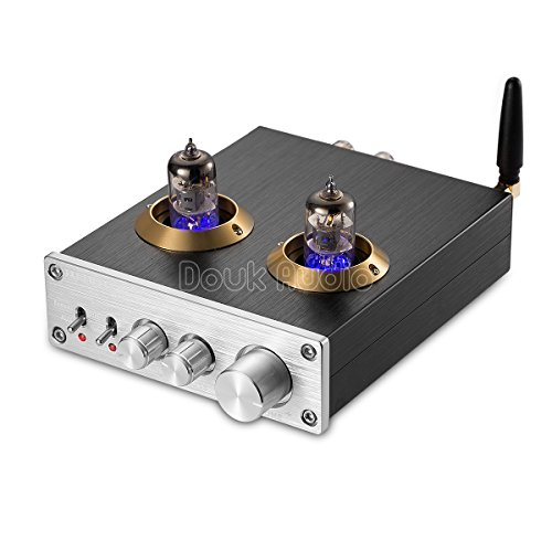 Nobsound Bluetooth Vacuum Tube Power Amplifier Class D HiFi Digital Audio Amp 100W (50W2) (Silver)