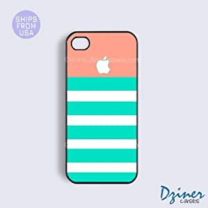 iPhone 6 Tough Case - 4.7 inch model - Coral Turquoise Stirpes iPhone Cover
