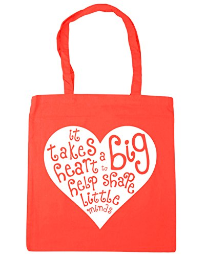 Shape Gym Big Beach Help Takes 42cm Heart a Shopping Bag to It Coral Minds Tote Little litres x38cm HippoWarehouse 10 nWS7O0qxw