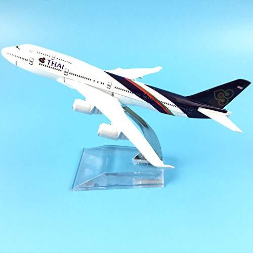 Greensun 16CM Thai Airways 747 Metal Alloy Model Plane Aircraft Model Toy Airplane Birthday Gift