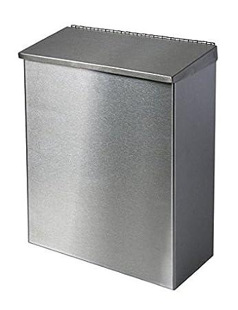 Abfallbehälter, Abfalleimer Edelstahl mit Deckel u. Bodenklappe ca ...