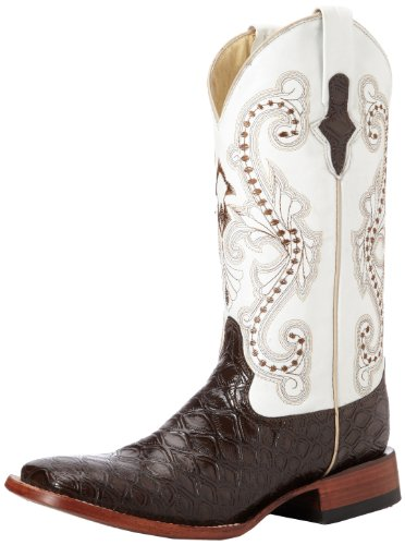 Ferrini Men's Print Anteater Western Boot,Chocolate,8 D US