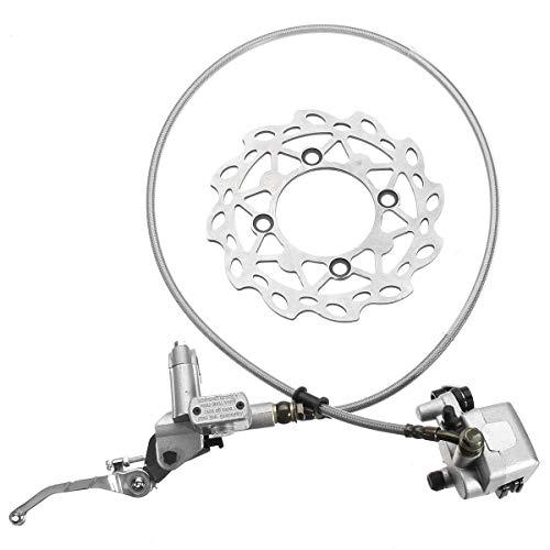 Brake Clutch Lever Universal Front Hydraulic Brake Caliper Disc 125cc 150cc Pit Dirt Bike Kit Set: