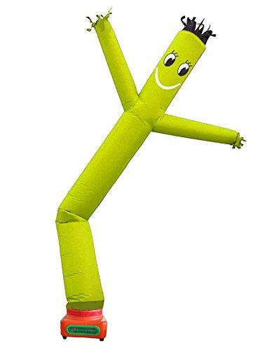 Sky Air Dancer Costume (10 Feet Promtion single leg Tube Cartoon,Sky Puppet tube man Dancer, Advertising Windy Moving Dancer Man,inflatable wave man (yellow))