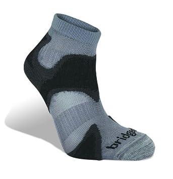 c8f6bc7a2a4 BridgedaleMen s CoolFusion Run Speed Demon Socks - Gunmetal