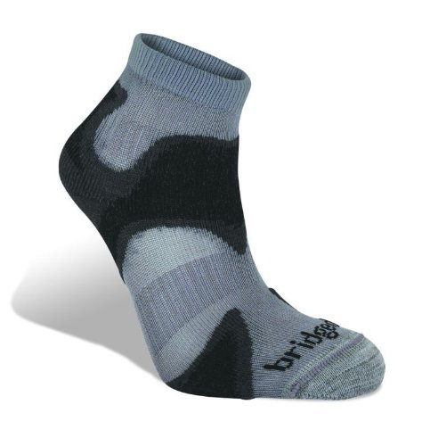 Bridgedale Men's CoolFusion Run Speed Demon Socks, Gunmetal/Black, X-Large ()