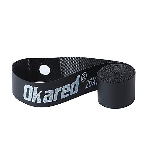"Okared 2 Pack Bicycle Rim Strip Rim Tape (26"" x 20mm) (Black)"