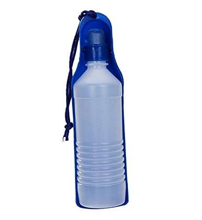 Flowerrs botella de agua portátil para animales, dispensador de agua plegable y ligero para perros
