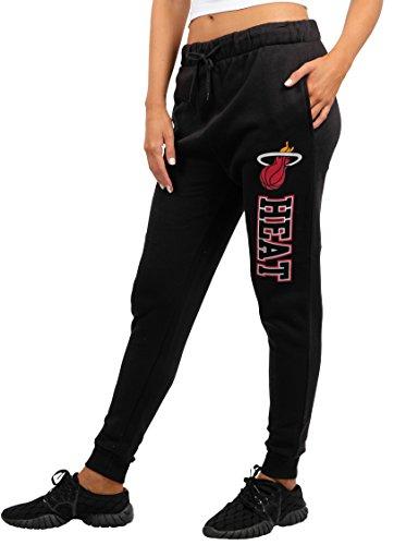 Accessories Heat Miami (NBA Miami Heat Women's Jogger Pants Active Basic Fleece Sweatpants, Large, Black)