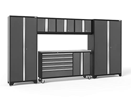 NewAge Products Bold 3.0 Gray 6 Piece Set, Garage Cabinets, 50485