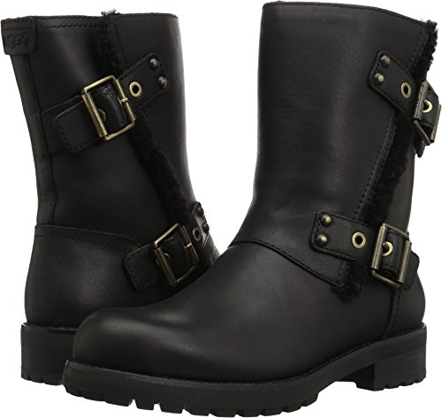 UGG Women's Niels Zippered Boot, Black, 8.5 M US