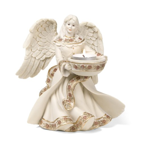 Pavilion Gift Company Sarah's Angels Tapestry Series Angel Tea Light Holder, 7-Inch