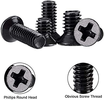 Color : Black, Size : 12mm Meets shop Screws 20-100Pcs M1 M2 M2.5 M3 M4 KM Screw SSD Electronic Repair Screws Accessories Compatible with Sony DELL Samsung IBM HP Toshiba