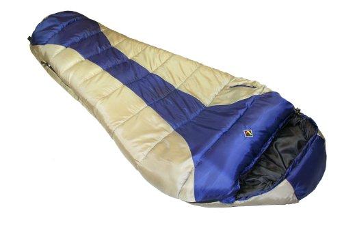 Ledge Sports River -20 F Degree XL Oversize Mummy Sleeping Bag (86 X 34 X 24, Blue), Outdoor Stuffs