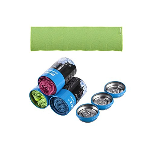 AstonStar Cooling Towel&Piggy Bank cans for Sports, Workout, Fitness, Gym, Yoga, Pilates, Travel, Camping & More(Green)