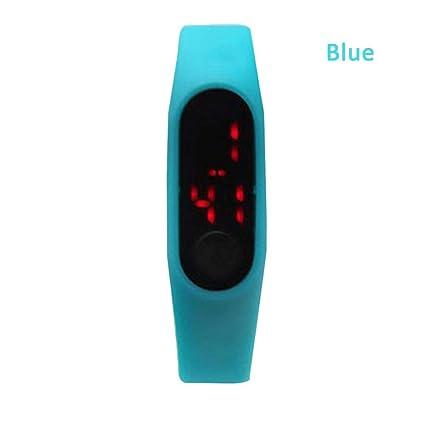 T Reloj Digital LED, Reloj electrónico para niños, Brazalete Deportivo LED -