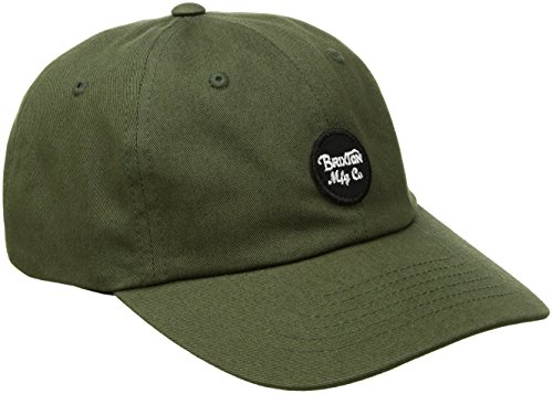 Brixton Men's Wheeler Low Profile Adjustable Hat, olive, One Size