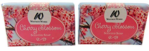 Cherry Blossom Scented Bar Hand and Body Soap Pack of 2 Bars, 3oz Each