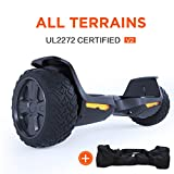 """TOMOLOO Hoverboard UL2272 Certified 8.5"""" All Terrain Wheels Off-Road App Controlled Electric Self Balancing Scooter for Kids and Adults with Bluetooth Speaker and LED Light"""