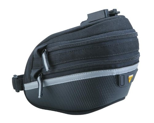 Topeak Wedge Pack II Seat Bag with F25 Fixer and Rain Cover, Large (Seat Expanding Bag)