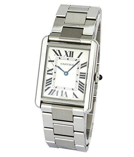 Cartier Men s W5200014 Tank Solo Large Stainless Steel Watch