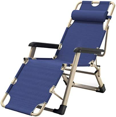 Chaise à bascule Chaise Pliante, Chaise Paresseuse Bleue