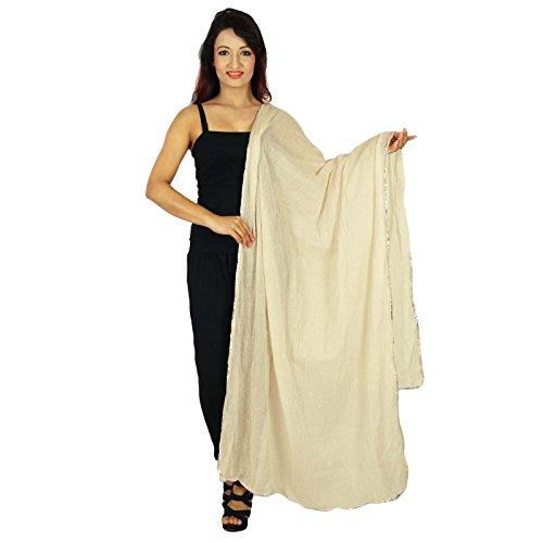 Argent Femme Longueues Echarpes Beige Dupatta Indiennes Entourage Coton Et À Porter Prêt Hijab De Chunni D'été xTBRnwqT
