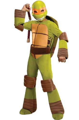 Teenage Mutant Ninja Turtles Deluxe Michelangelo Costume, -