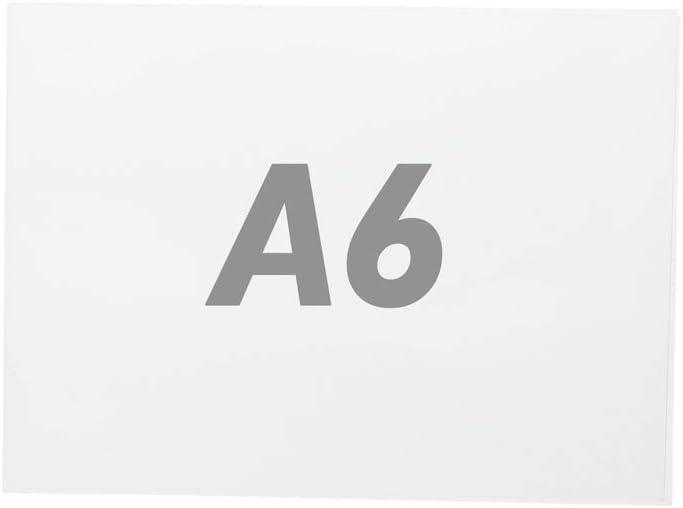 PrimeMatik - Lámina de plástico transparente doble para marco A6 para rotulación