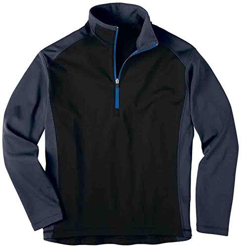 - Rivers' End Mens Half Zip Microfleece Jacket Athletic Outerwear Pullover Black XXL
