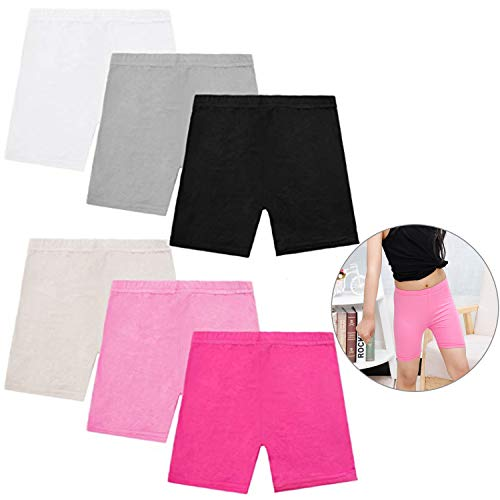 Xgood 6 Pack Girls Shorts Dance Short Cotton Bike Short for Sports,Under Skirts Breathable and Safety Dress Shorts 6 Colors