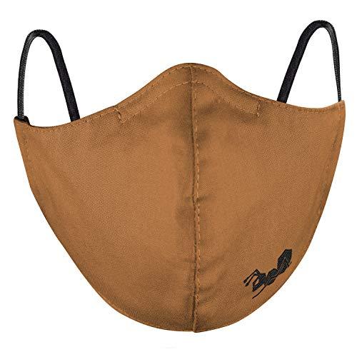 Strongant Mund Nasen Maske Aus 50 Baumwolle 50 Hanf 143 G M Mundbedeckung 2 Lagen Wiederverwendbar Waschbar Braun Hanf 2 Lagen M 5er Pack Auto
