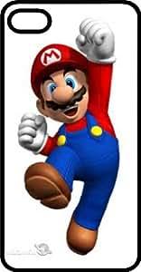 Happy Jumping Mario Black Plastic Case for Apple iPhone 6