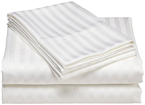 QUEEN SHEETS Luxury Soft 100% Egyptian Cotton 600 Thread Count -Queen Mattress Sheet Set Deep Pocket WHITE (Egyptian Cotton 600 Thread)