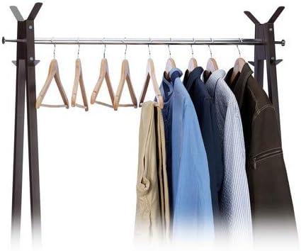 Garderobenb/ügel 12 Hosenb/ügel aus Holz Relaxdays Kleiderb/ügel Set HxB: 22,5x44,5cm natur//silber Haken 360/° drehbar