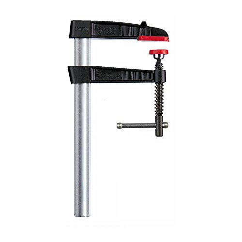 Bessey TG25K Screw Clamp Tg-K 9.84In/4.72In of Cast-IRON, Black/Red/Silver