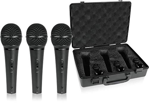 Behringer Ultravoice XM1800S Dynamic Cardioid Vocal and Instrument Microphones, Set of 3 ()