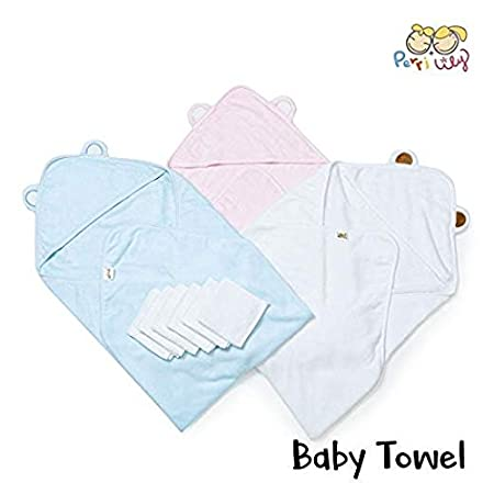 Amazon.com : 100% Organic Bamboo Hooded Baby Towel Set - Soft, Hooded Bath Towels with Ears for Babies, Toddlers - Hypoallergenic, Large Baby Towel with ...
